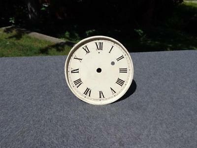 Painted Dial Wall Shelf Mantle Clock Roman Numerals Weight Driven? Time Only