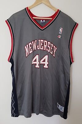 0e47cf4250c Vintage 90's Champion NBA Keith Van Horn New Jersey Nets Jersey - Size 52  2XL
