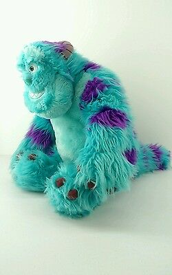 """SULLEY Disney Pixar Monsters Inc 15"""" tall LARGE Long Hair Plush Toy Very Soft"""