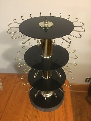 Vtg Store Counter Rotating Revolving Spinning 3-Tier JEWELRY Display Rack