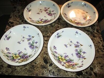 LOVELY Violet Pattern Meito China Adele ~ Norleans Lg Soup Bowl ~ OUTSTANDING!