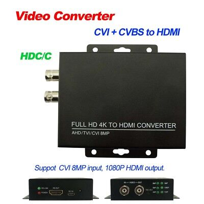 HDC/C Video Converter 8MP 4K CVI & CVBS to HDMI 1080P output HD coaxial Output