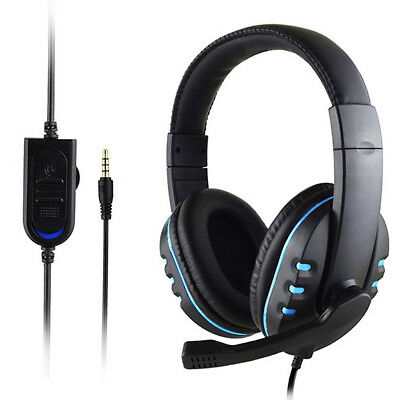 Gaming Headset Mic Stereo Surround Headphone 3.5mm Wired For PS4 PC Xbox one SPE