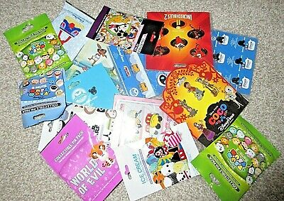 Disney TRADING PINS Lot OF 25 Brand New Booster Mystery Pack Sets NO DUPLICATES!