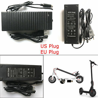 US/EU Power Charger 42V 2A for Xiaomi Mijia M365 Electric Skateboard Scooter New