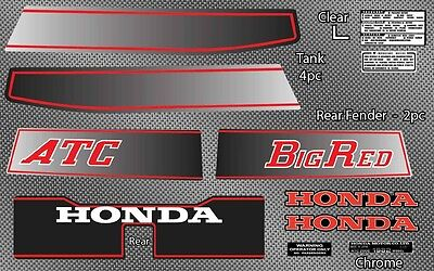 1982 82' Honda ATC 200ES Big Red ATV vintage decals sticker trike 10pc graphics
