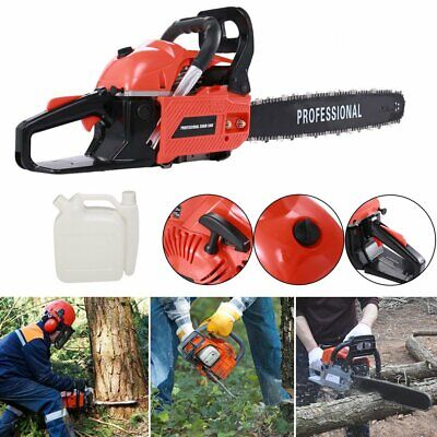 """62cc Petrol 20"""" Chainsaw 2.3KW 2-Stroke Engine Carry 0.325"""" Chain + More"""