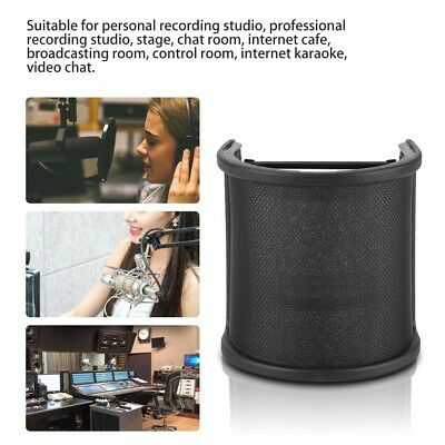 New Dual Layer Recording Studio Microphone Mic Windscreen Pop Filter Mask Shield