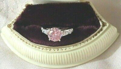 Vintage Jewellery Gold Ring Pink and White Sapphires Antique Dress Jewelry