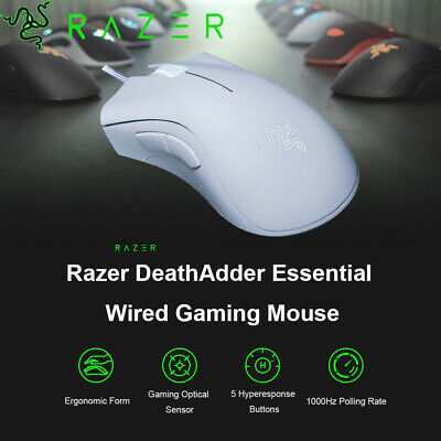 Razer DeathAdder Essential Gaming Mouse 6400DPI Optical 5 Programmable Buttons