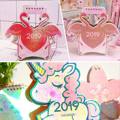 2019 Desktop Flip Calendar Stand Up Table Planner Scheduler Office Room Desk