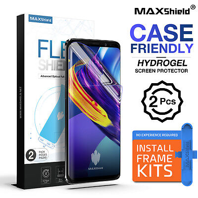 2X Maxshield HYDROGEL AQUA FLEX Screen Protector Samsung Galaxy S9 Plus Note 9