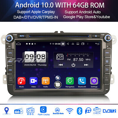 "8""Android 8.1 Car stereo Sat Nav DAB+For VW PASSAT GOLF JETTA CADDY TOURAN SEAT"