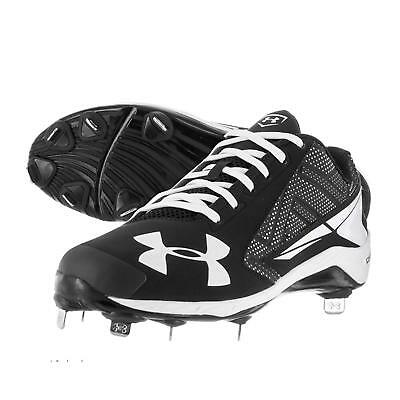 buy popular a7e6c e3550 NEW Under Armour UA Yard Low ST Natural Black White Men s Metal Baseball  Cleats