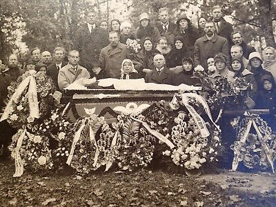 early 1900 OPEN COFFIN BEARDED MAN POST MORTEM ANTIQUE LARGE PHOTO ON CARDBOARD