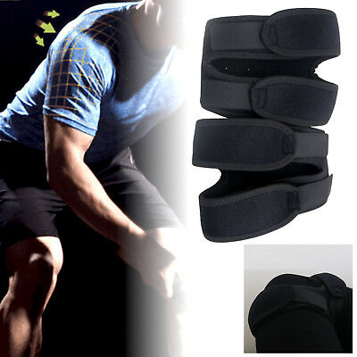 Dual Action Open Patella Tendon Knee Support Brace Strap Sports Exercise Running