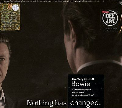 David Bowie Nothing Has Changed The Very Best Of Cofanetto 3 Cd Nuovo Sigillato