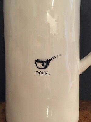 Rae Dunn Pour Icon Water Pitcher Vase
