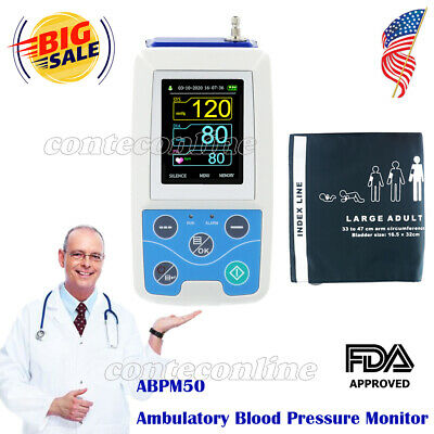 CONTEC Ambulatory Blood Pressure Monitor+USB Software 24h NIBP Holter ABPM50 FDA