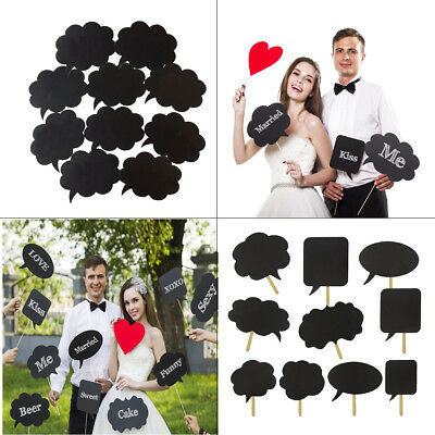10pcs Speech Chalk Board Photo Booth Props Photography Wedding Christmas Party