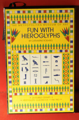FUN WITH HEIROGLYPHS Catherine Roehrig Metropolitan Museum Of Art Rubber Stamps