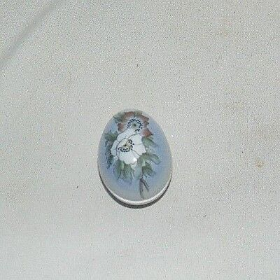 Bing and Grondahl Porcelain Egg Trinket Dish Limited Edition Poppies