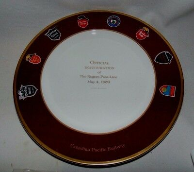 Canadian Pacific Rogers Pass Line Commemorative Plate