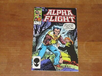 Alpha Flight #13 Marvel Copper Age High Grade Wolverine Cover & Story Sweet Book