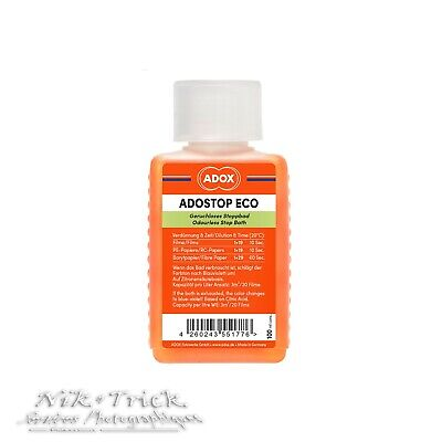 Adox Adostop Eco Indicator Stop Bath ~ 100ml Concentrate for the low volume user
