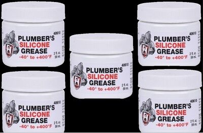 HERCULES PLUMBERS SILICONE GREASE (5-Pack) Lubricant Faucet Valve Stems O-Rings