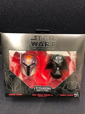 Star Wars Black Series DARTH VADER and Sabine Wren Titanium Helmets 3