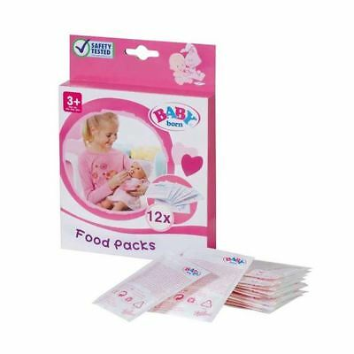 Pack of 12 Baby Born Food Packs