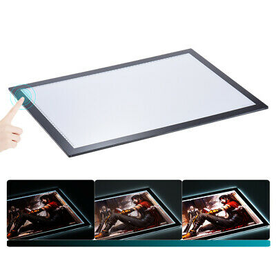 NEW Ultra Thin A2 LED Board Craft Tracing Drawing Stencil Table Pad Light Box AU