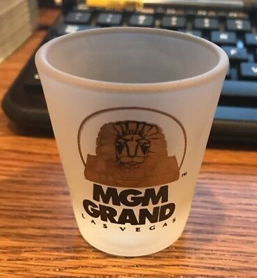 Vintage MGM Grand Las Vegas Shot Glass Frosted