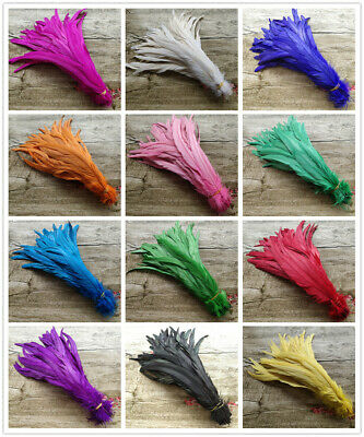 Hot Sale 10-100pcs Beautiful 25-40cm/10-16 inches Natural Rooster Feathers opt
