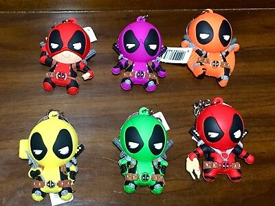 Marvel Deadpool Monogram Figural Collector Keyrings Set of 6 Solo Terror & More!