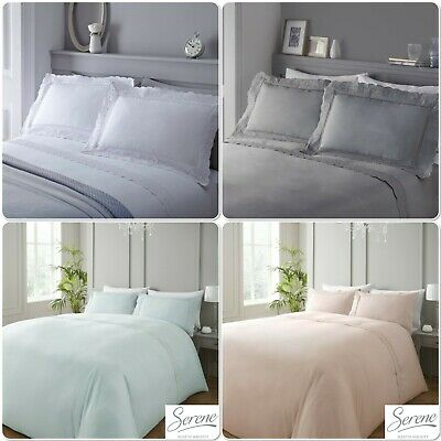 Serene Renaissance Embroidered Lace Duvet Cover Bedding Set White or Silver
