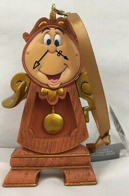 Disney Parks Beauty and the Beast Cogsworth Clock Christmas Holiday Ornament New
