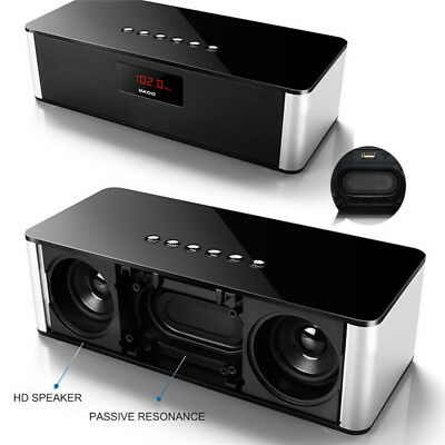 Portable Bluetooth FM Radio & Speaker Mini HiFi Super Bass Stereo Loudspeakers