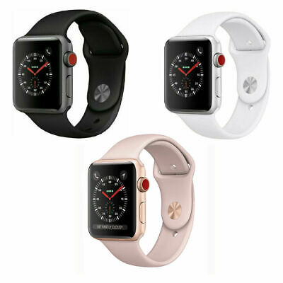 Apple Watch Series 3 38mm 42mm GPS + Cellular 4G LTE - Space Gray Silver Gold