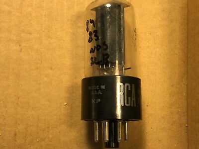 NOS 1957 RCA 5Y3GT Rectifier Tube Tests Strong Balanced Black Plate Guitar Amp