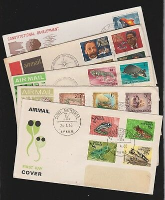 Papua & New Guinea 1968, 1970 and 1972X3  FDC