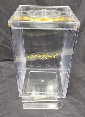 Crown Royal Ice Bucket And Tongs Clear