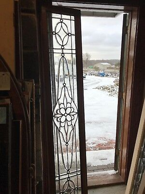 SG 2650 for antique floral all beveled glass transom window 16.25 x 84
