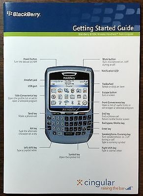 Blackberry 8700C Getting Started Guide