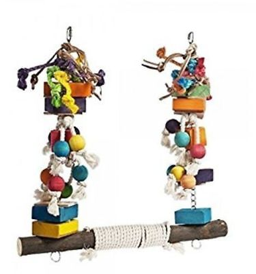 Jumble Stack Swing Large XXL Parrot Bird Toy For African Greys, Macaws etc 3512