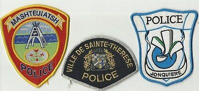 Jonquiere / Mashteuiatsh / Ste-Therese (QUEBEC) Police Patches
