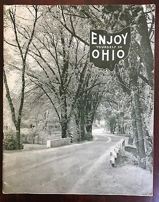"""Enjoy Yourself In Ohio"" Early 1940s Travel & Tourism Guide to the Buckeye State"