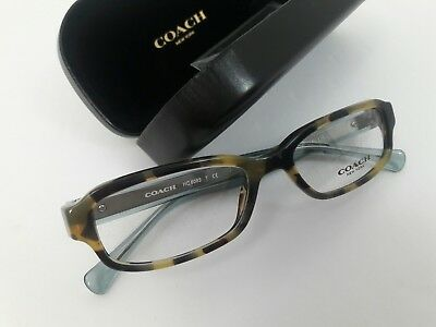883eed933980 Coach Eyeglasses HC 6083 50mm Tortoise Teal 5357 new prescription rx dark