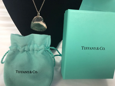 "Tiffany & Co. LARGE Double Hearts Pendant & 18"" Necklace 925 Sterling *RETIRED*"